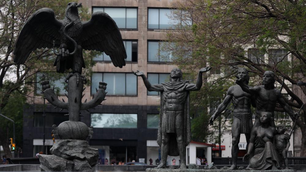 Tenochtitlan monumento fundación