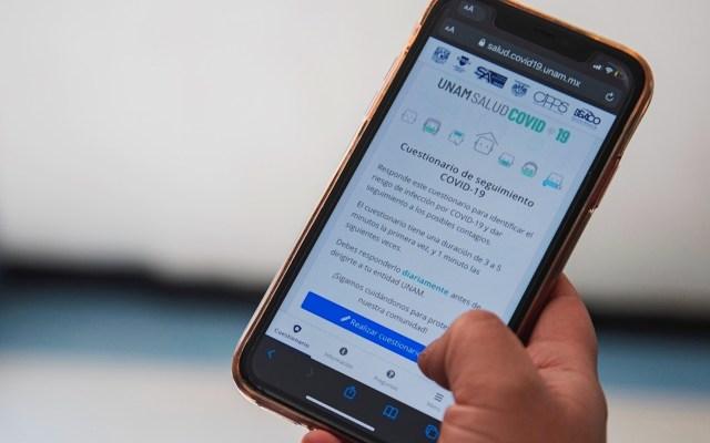 UNAM presenta app para controlar el COVID-19 en su comunidad - UNAM presenta app para controlar el COVID-19 en su comunidad. Foto de EFE