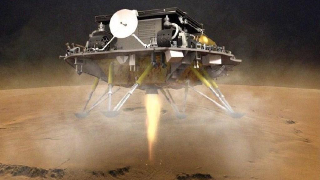 La nave china Tianwen-1 consigue llegar a Marte - Vehículo explorador chino llega a Marte. Foto de @CNSA_en