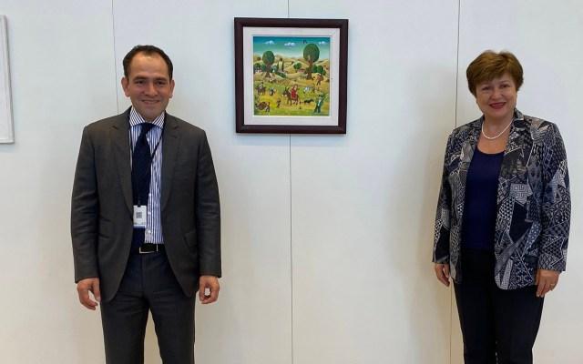 Conversa Arturo Herrera con directora del FMI sobre recuperación económica postcovid - Arturo Herrera junto a Kristalina Georgieva, directora del FMI. Foto de @ArturoHerrera_G