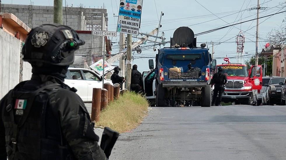 Suman 88 mil 405 homicidios dolosos en lo que va del sexenio - Autoridades en Reynosa por balacera y persecución. Foto de EFE