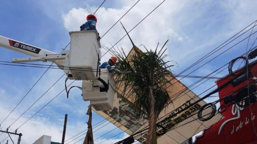 CFE restablece suministro eléctrico a usuarios afectados en Jalisco por ciclón Enrique - CFE Jalisco huracán Enrique