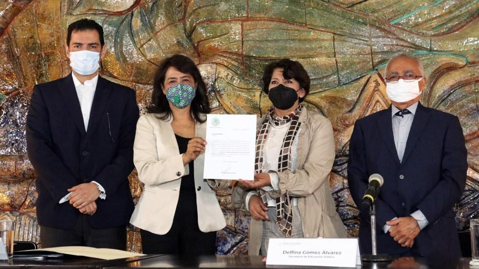 SEP designa a Adela Piña Bernal como nueva titular de la Usicamm - Designación de Adela Piña Bernal como nueva titular de Usicamm. Foto de SEP