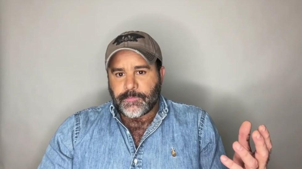 #Video Eduardo Capetillo revela que fue diagnosticado con cáncer de piel - Eduardo Capetillo. Captura de pantalla