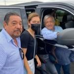 Salgado Macedonio se reencuentra con AMLO en Acapulco