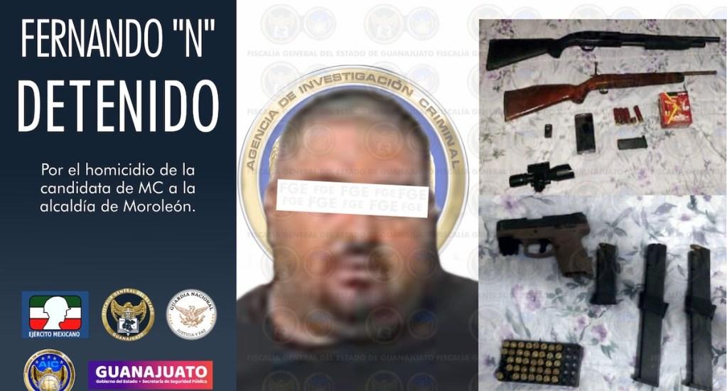 Detienen a implicado en asesinato de Alma Barragán, candidata a la alcaldía de Moroleón - Fernando 'N', el detenido por asesinato de Alma Rosa Barragán