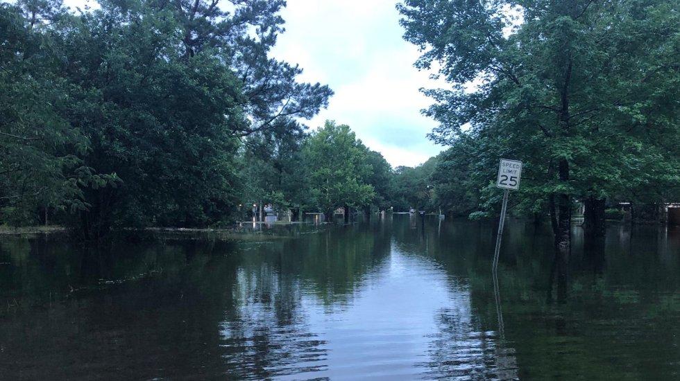 'Claudette' deja inundaciones y tornados en Estados Unidos - French Branch Estate, en Luisiana, Estados Unidos, inundada por el paso de Claudette. Foto de @RilwanFox8