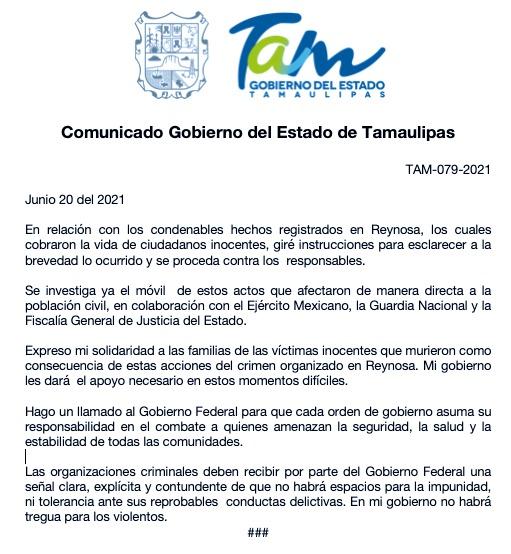 Jornada violenta en Reynosa, Tamaulipas, deja 18 muertos