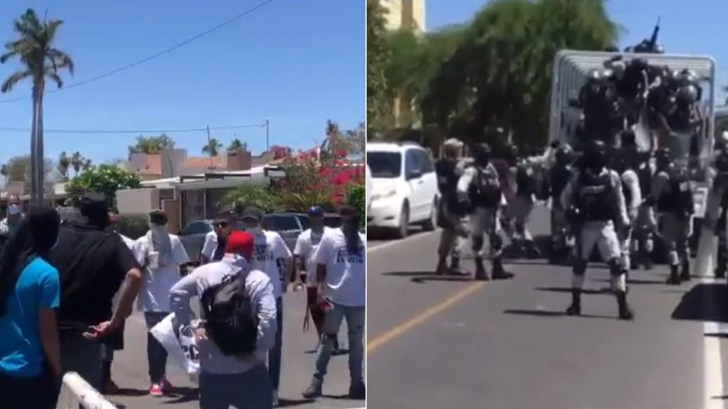 Se enfrentan en Hermosillo presuntos simpatizantes de Celida López y Antonio Astiazarán - Hermosillo sonora enfrentamiento
