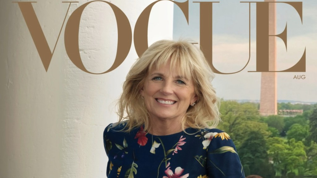 Jill Biden aparece en la portada de Vogue - Jill Biden aparece en la portada de Vogue. Foto de Vogue