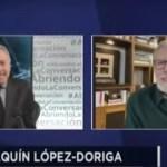 Joaquín López-Dóriga, en conversación con José Cárdenas - Joaquín López-Dóriga, en conversación con José Cárdenas. Foto tomada de video