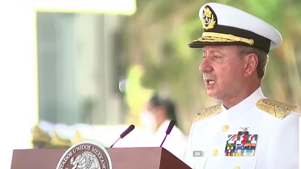 Secretaría de Marina niega militarizar los puertos de México pese a su nuevo poder - José Rafael Ojeda Durán, secretario de Marina. Captura de pantalla
