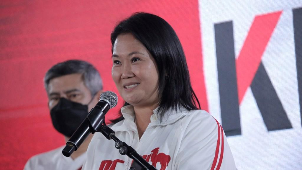 Fujimori aventaja a Castillo en 0.7 puntos, con 90.5 por ciento de votos contados - La candidata presidencial, Keiko Fujimori. Foto de EFE