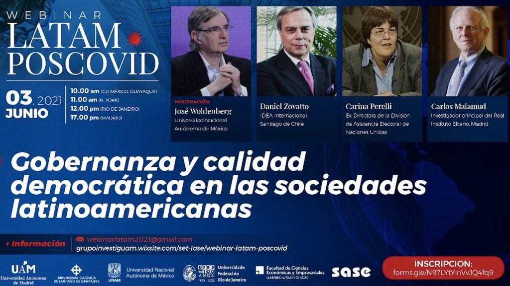 #Video La urgencia de un nuevo contrato social para América Latina - Seminario Latam Poscovid. Foto de UNAM