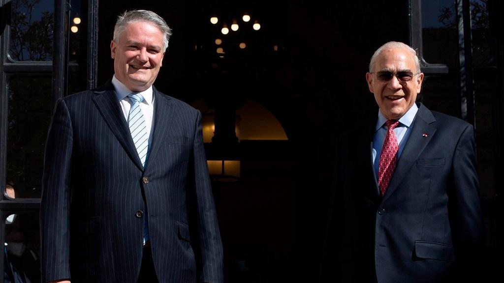 Mathias Cormann releva a José Ángel Gurría en la OCDE - Mathias Cormann y José Ángel Gurría. Foto de EFE