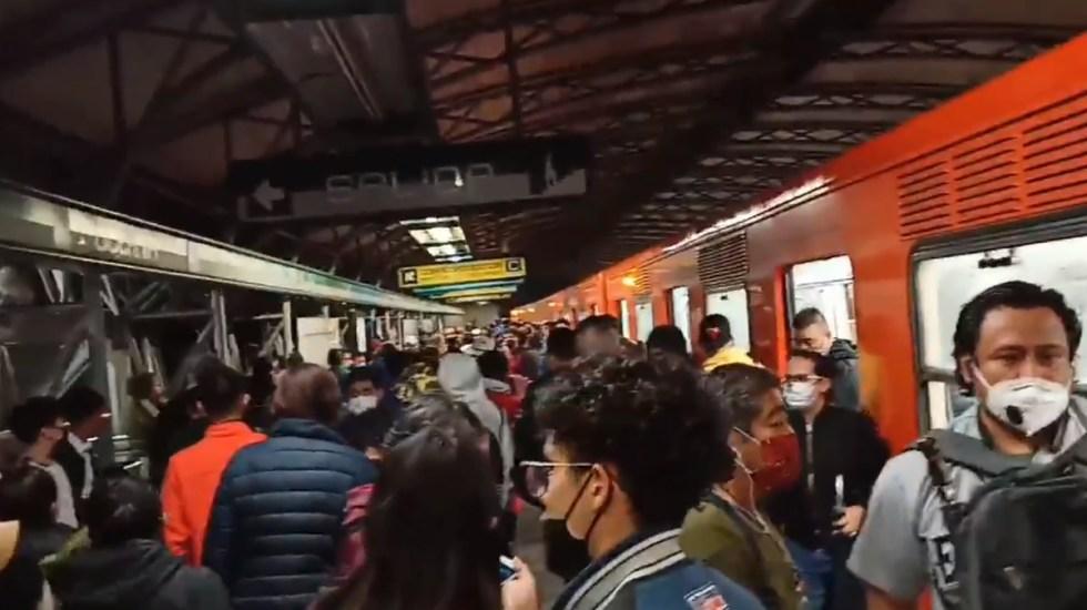Sombrilla provoca cortocircuito en Línea B del Metro - Metro Ciudad de México Línea B