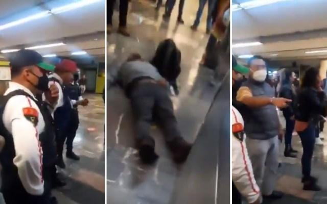 #Video Investigan a policía por riña en estación Indios Verdes