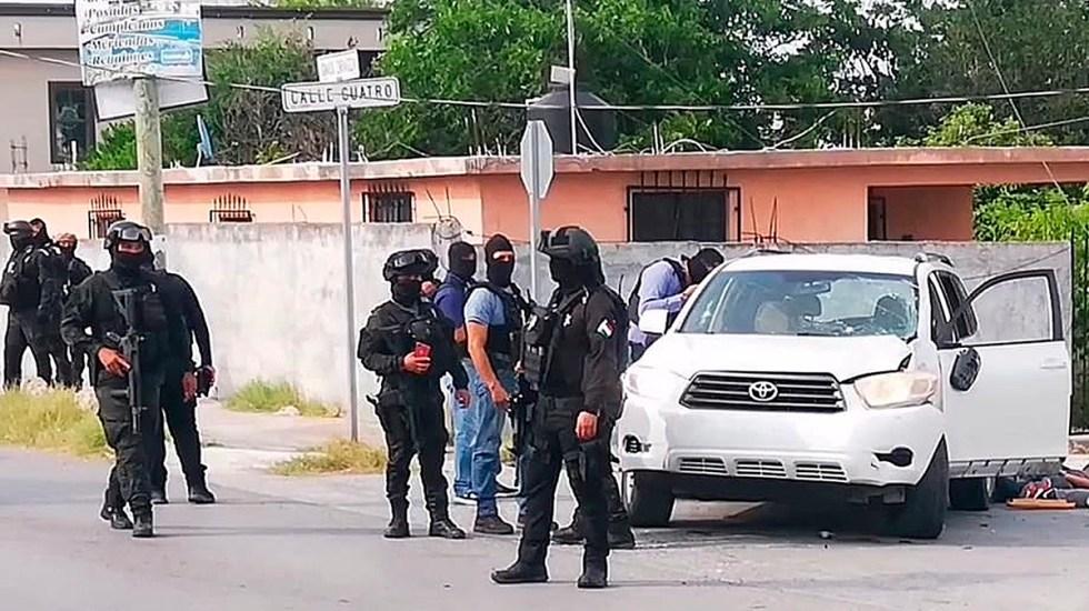 Suman 88 mil 327 homicidios dolosos en lo que va del sexenio - Movilización policial en Reynosa por persecución y balacera. Foto de EFE