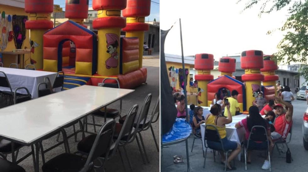 Mujer publica invitación a fiesta de sus hijos en Facebook por falta de asistentes; llegan decenas de personas - Mujer Nuevo León Monterrey casa fiesta niño 2