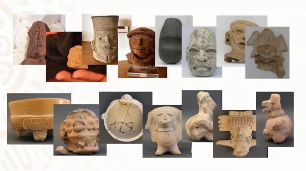 México recupera 34 piezas arqueológicas que se encontraban en Alemania - Piezas arqueológicas devueltas desde Alemania. Foto de SRE