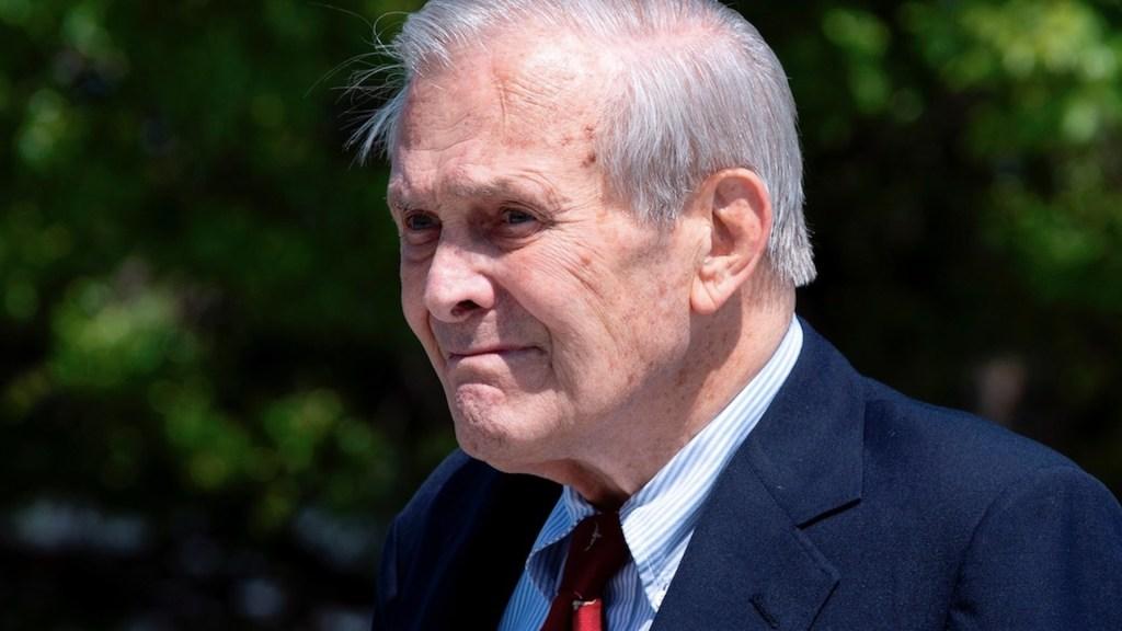 Murió Donald Rumsfeld, exsecretario de Defensa de EE.UU.. Foto de EFE