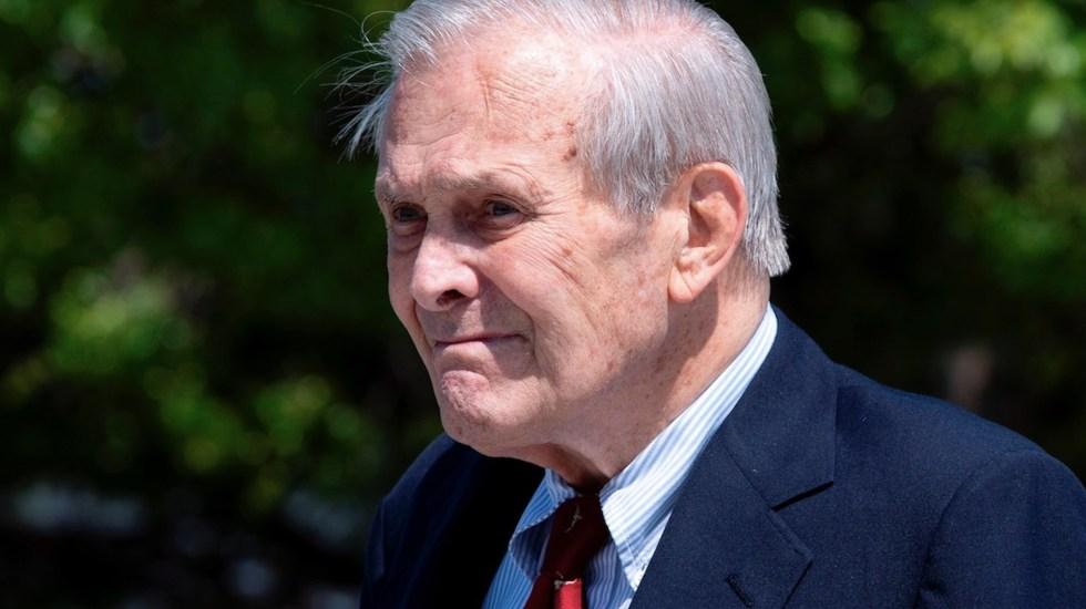 Murió Donald Rumsfeld, exsecretario de Defensa de EE.UU. - Murió Donald Rumsfeld, exsecretario de Defensa de EE.UU.. Foto de EFE