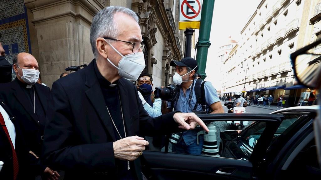 AMLO y Pietro Parolin, secretario del Estado del Vaticano, se reúnen en Palacio Nacional - secretario de Estado de la Santa Sede, Cardenal Pietro Parolin México