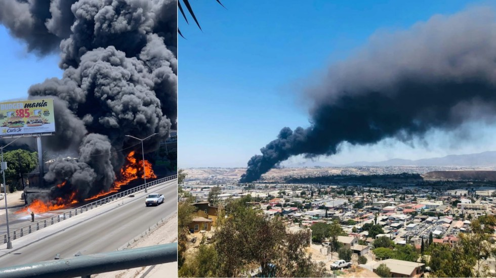 #Video Explota pipa de combustible en Tijuana - Tijuana explosión