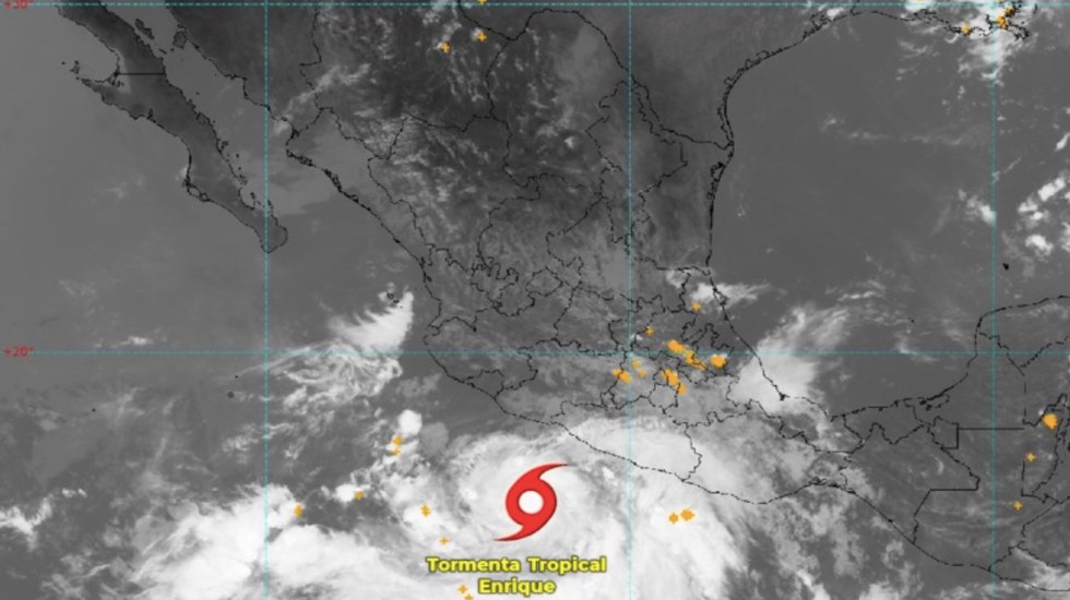 Enrique continúa por el Pacífico; será huracán este sábado - Tormenta tropical Enrique continúa por el Pacífico; será huracán el sábado. Foto de Conagua Clima