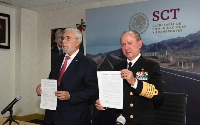 SCT concreta traspaso de la coordinación de puertos y marina mercante a la Semar - Traspaso de la Coordinación General de Puertos y Marina Mercante. Foto de SCT / Semar