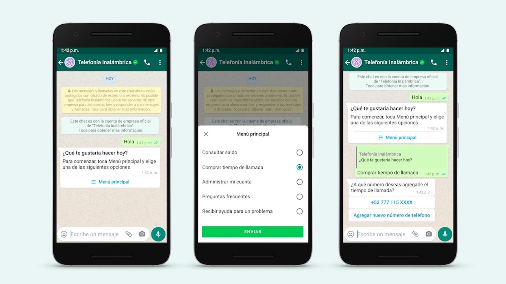 WhatsApp Bussines presenta nuevas funciones. Foto de WhatsApp