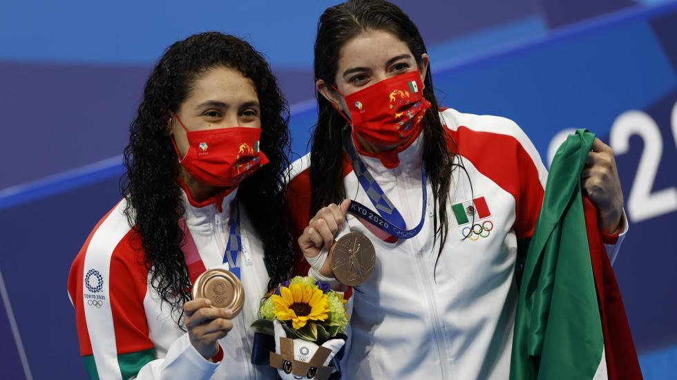 México gana medalla de bronce en clavados sincronizados en Tokio 2020 - Gabriela Agúndez y Alejandra Orozco bronce