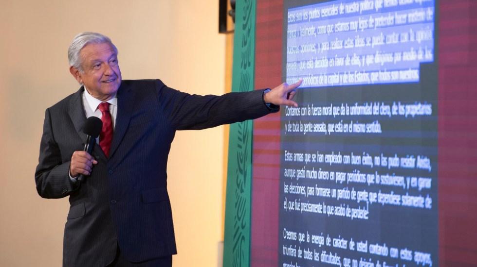 'Quién es quién' en 'noticias falsas' es un ejercicio democrático: AMLO - AMLO López Obrador Quien es Quien mentiras prensa