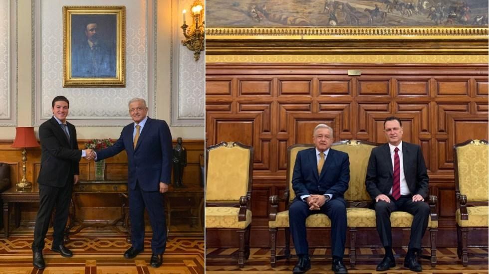 López Obrador se reúne con gobernadores electos de Nuevo León y Querétaro - AMLO López Obrador reunión Mauricio Kuri Samuel García Querétaro Nuevo León
