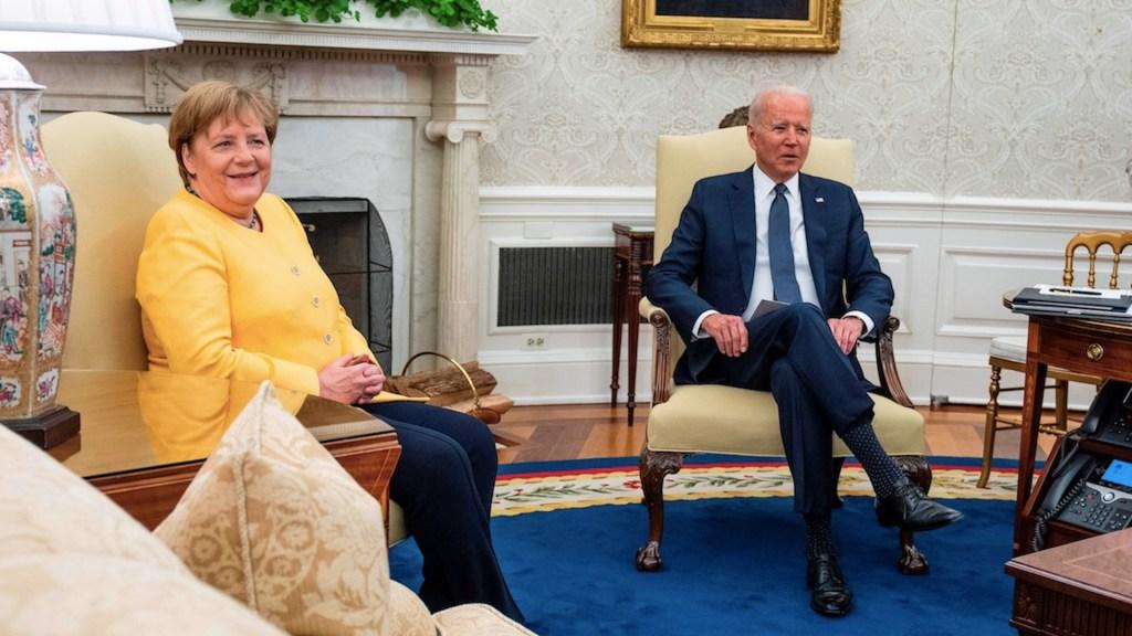 Biden recibe a Merkel con agenda marcada por China y gasoducto - Biden recibe a Merkel con agenda marcada por China y gasoducto. Foto de EFE