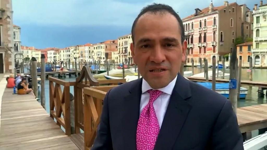 Arturo Herrera discute recuperación económica con titulares de Bancos Centrales del G20 - Arturo Herrera en Venecia. Captura de pantalla