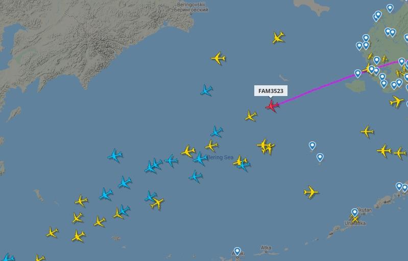 Avión presidencial continúa viaje hacia Tokio tras escala en Alaska. Foto tomada de video