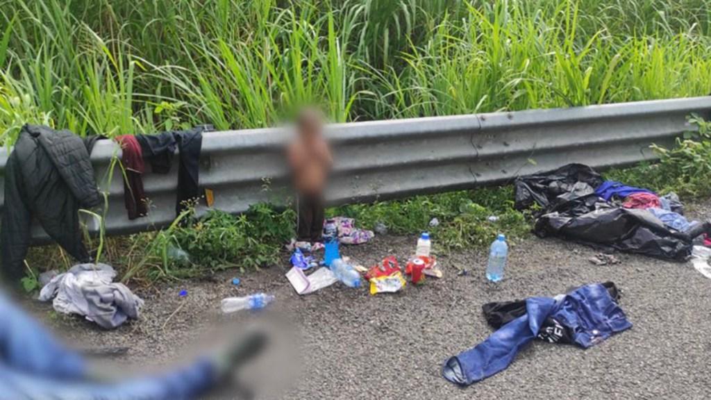 México regresa a Honduras a bebé abandonado en carretera de Veracruz - Bebé abandonado en carretera de Veracruz. Foto de INM