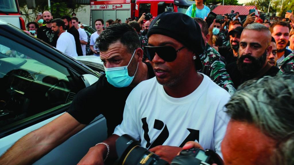 Ronaldinho abandona memorial por las víctimas de Beirut tras pelea. Foto de EFE