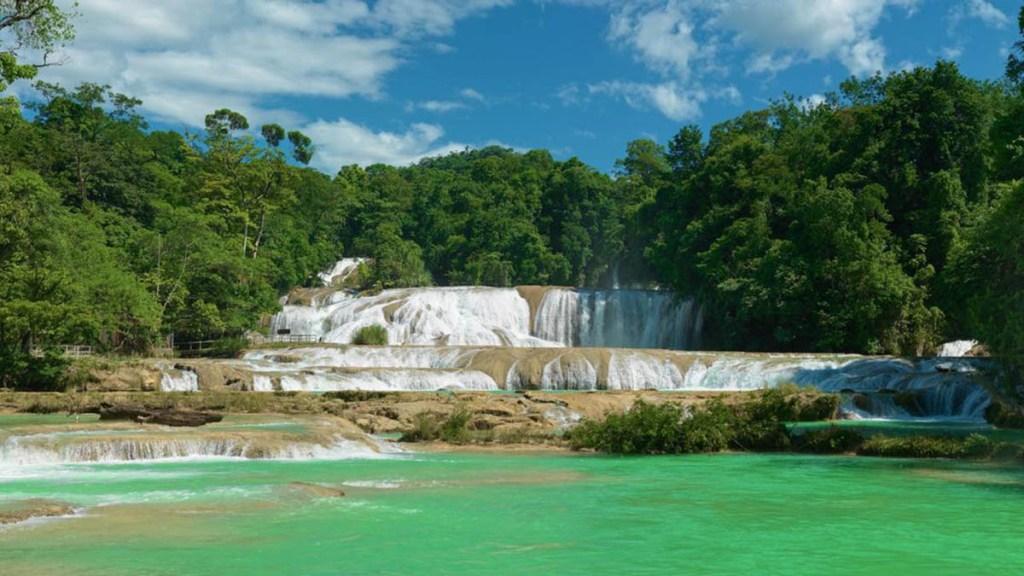 Hallan muerta a turista de Portugal que cayó en cascadas de Agua Azul, Chiapas - Cascadas de Agua Azul. Foto de @SECTUR.MX
