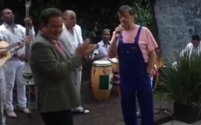 """Chabelo como nunca lo habían visto: Cómo fue… con Jorge """"El Coque"""" Muñiz - Chabelo y Coque Muñiz. Foto tomada de video"""
