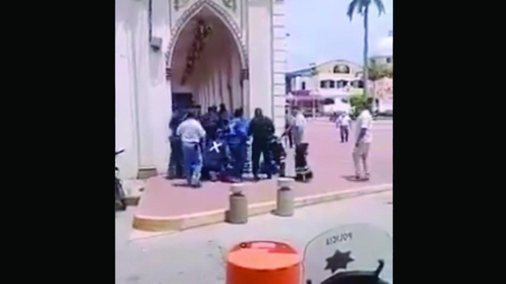 #Video Sujetos disparan contra policías y un civil en Cosamaloapan. Foto tomada de video