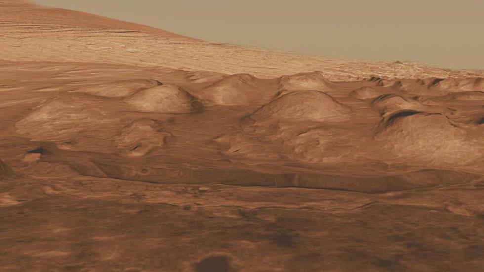 Marte reunió hace 3 mil 500 millones de años condiciones para albergar vida - Cráter Gale de Marte. Foto de NASA / JPL-Caltech / University of Arizona