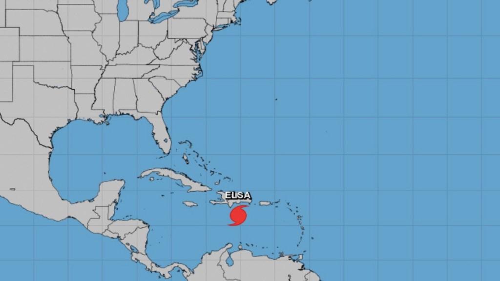Elsa se desplaza hacia República Dominicana y Haití. Foto de NHC