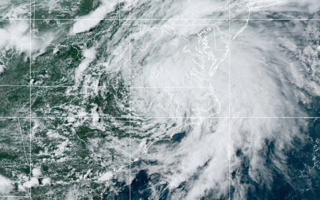 Elsa amenaza sureste de EE.UU. con lluvias e inundaciones - Tormenta tropical Elsa. Foto de NOAA / GOES