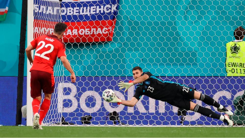Unai Simón da a España pase a semifinales de la Euro - España Suiza Unai Simón