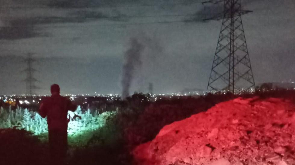 Cierran la autopista México-Pirámides por fuga de gasolina - Fuga de gasolina sobre la México-Pirámides. Foto de @luismiguelbaraa