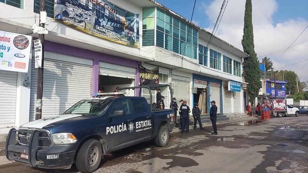 Comando asesina a pareja en gimnasio de Cuautitlán Izcalli - Gimnasio de Cuautitlán Izcalli donde asesinaron a pareja. Foto de @vialhermes