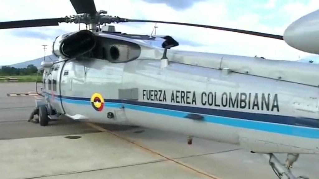 Identifican a capitán pensionado del Ejército como autor de atentado contra Iván Duque - Helicóptero oficial atacado durante traslado del presidente Iván Duque. Captura de pantalla / @RCNBga