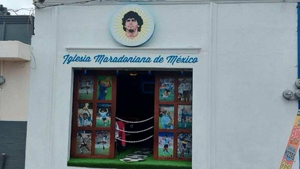 Primera Iglesia Maradoniana en México tiene su sede en Puebla - Iglesia maradoniana en México. Foto de El Sol de México